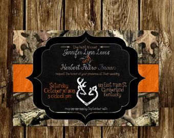 Camo Wedding invite