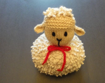 Knitted Curly Lamb Toy