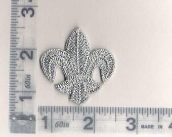 Silver Fleur de lis patch