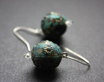Space Green  Earring