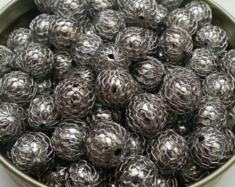 9mm Handmade Woven Bead
