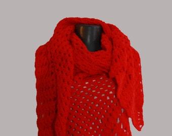 Crochet shawl,Trianglе crochet shawl, Handmade shawl,crochet wrap shawl,vintage shawl