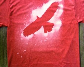 Soaring Hawk Adult T-shirt size Medium Heather Red