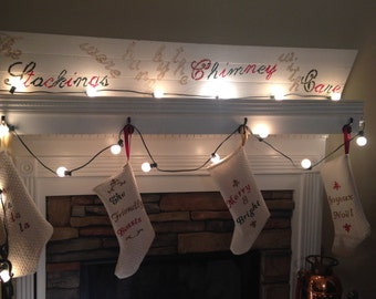 """The """"Stockings were hung by the Chimney with Care"""" Anywhere Mantle Stocking Holder"""