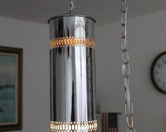 silver hanging light