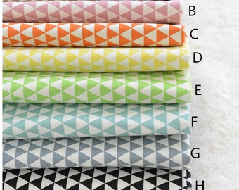 8 color choose triangle collection cotton linen fabric home decor fabric tablecloth fabric curtain fabric handmade fabric 1/2 yard