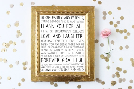 Thank You Sign For Wedding Gift Table : You Wedding SignCard and Gift Table SignPrintable Thank You Sign ...