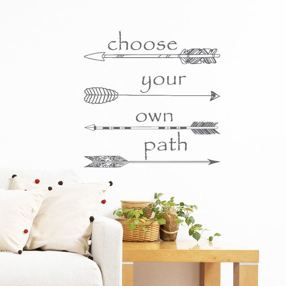 Wall decals quotes vinyl sticker decal art by trendywalldecals for Choose your own home