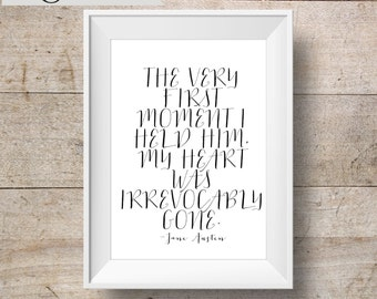 Jane Austen Quote Art INSTANT DOWNLOAD 8x10 Printable Northanger Abbey Art Print, Home Decor, Wall Gallery Set Printable