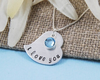 Valentine Heart necklace, great gift for daughter, wife, friend, love heart