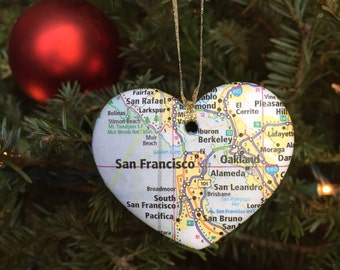 San Francisco Map Ornament
