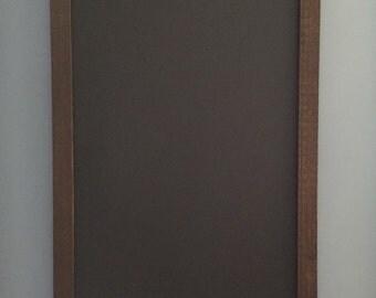 Rustic cedar chalkboard.