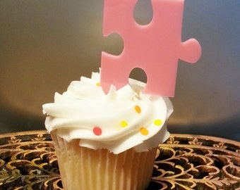 Puzzle Piece Cake Topper Etsy