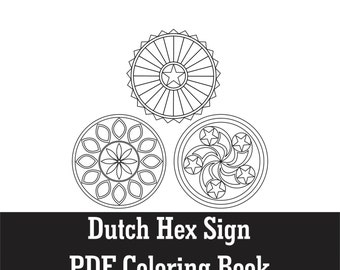 pennsylvania dutch hex sign coloring pages - photo #8