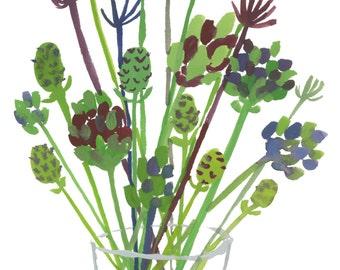 Plants in Vase Giclee Print