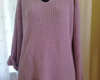 90s Lavender Shaker Sweater