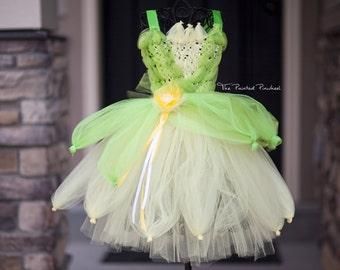 Tutu Length Princess Tiana Inspired Princess Tutu Dress