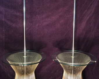 Pair of Warren Platner Style Laurel Floor Lamp Table without shades