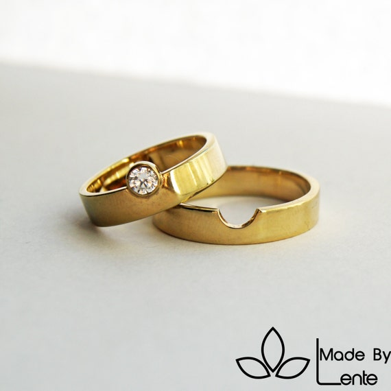 we perfectly fit together wedding rings 14k