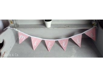 Personalised name bunting. CUSTOM MADE Just for you!