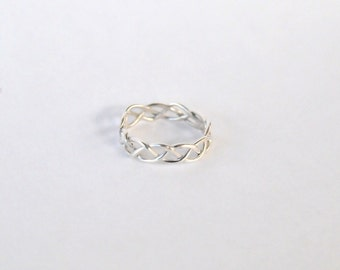 Ring, braided silver