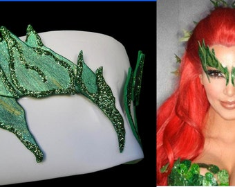 POISON IVY glitter eyebrow mask batman brow eve Comic Con cosplay cat woman Harley Quinn BFF
