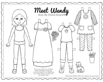 Printable Paper Doll-Wendy by My Friend Ronnie®