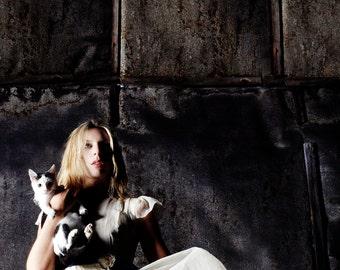 Digital photography download, model,fashion, cat, girl, illustartion, wall art, art fine