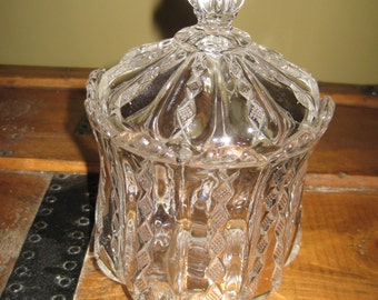 Vintage glass jar and cover