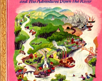 Scuffy the Tugboat and His Adventures Down The River - Little Golden Book