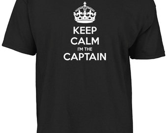 Keep calm I'm the captain t-shirt