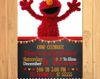 Elmo Invitation Chalkboard * Elmo Birthday * Elmo Invite * Elmo Party Favors * Elmo Party Printables