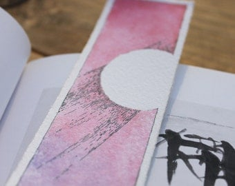 Abstract Violet-Blue Bookmark 1.75 x 7 inches, Print.