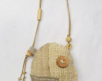 Natural textile Talisman Pouch