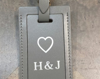 Our favorite quality leather bag tag. Weddings, anniversaries or special occasions. A great personal touch and better gift.