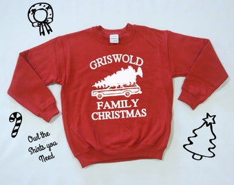 Grisworld Family Christmas Sweatshirt. Griswold Family Vacation shirt. Griswold Family shirt. Holiday sweaters. Christmas shirts.