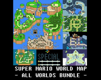 Legend of zelda a link to the past light and dark world maps super mario world all worlds maps cross stitch pattern sciox Image collections