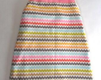 Baby Sleep Sack made with cotton and minky fabric.  Keep baby cozy for sleep or play.