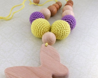 """Necklace """"Butterfly"""", a natural and safe teether"""