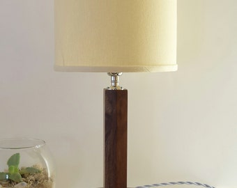 table lamp walnut mid century modern small buffet lamp bedside lamp
