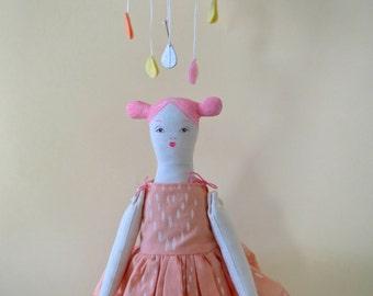 ON SALE!!! -- Baby Jives Collaboration - Doll & Rain Cloud - Dreamy Peach Pink
