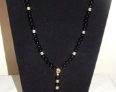Black and Gold men's rosary beads
