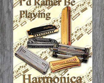 Mouse Pad - I'd Rather Be Playing Harmonica