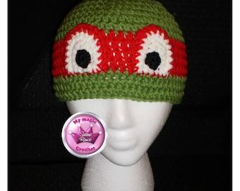 Teenage Mutant Ninja Turtles Crochet Hat Made with Soft yarn