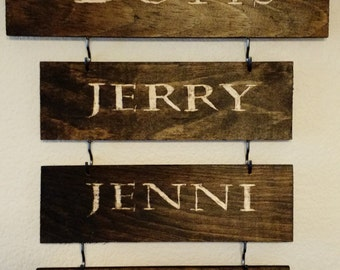 Family Name Wooden Sign