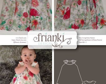 Baby Girl Swing Dress - PDF Sewing Pattern and Photo Tutorial - Sizes 000 to 2 - Instant Download - Kids Toddler Child Easy Sew Pattern