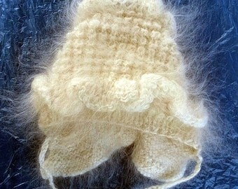 warm soft natural feather knitted baby hat (5)
