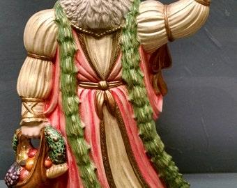 SALE!!!English Santa -- Heirloom-quality handpainted ceramic Santa -- Christmas mantel decor