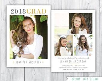 graduation announcement / senior graduation announcement / senior graduation announcement / graduation announcement template / PHOTOSHOP
