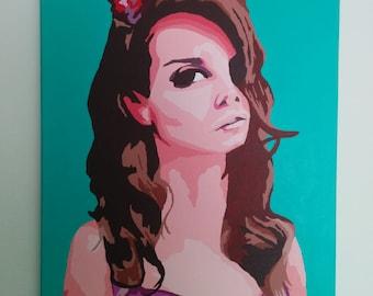 Turquoise Lana Acrylic Painting